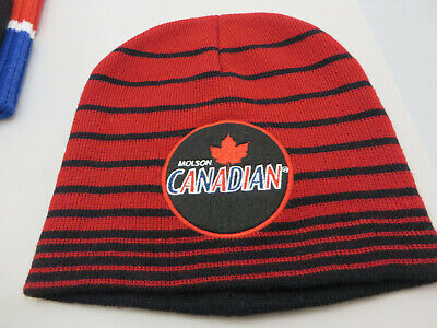 Molson Canadian beer Beanie Hat Toque Cap red