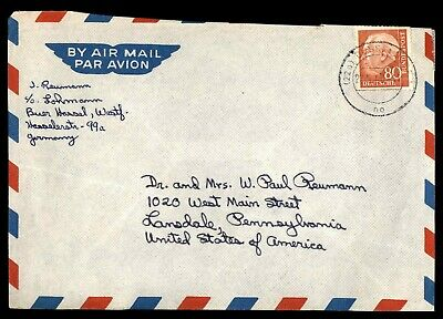 Mayfairstamps Germany By Air Mail to Lansdale PA USA Cover wwd_45901