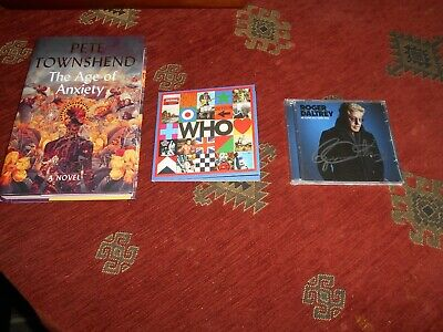 Pete Townsend Roger Daltry Autographed  signed Bundle,1xBook 2x CDs