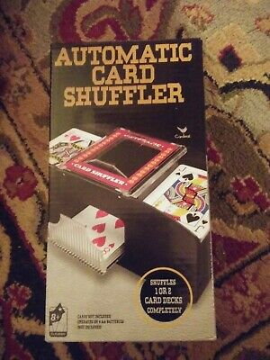 Cardinal 1 to 2 Deck Automatic Playing Card Shuffler Black battery operated