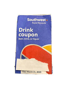 Southwest Drink Coupon Expires March 31, 2020
