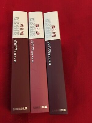 Maybelline (3) New York SUPER STAY MATTE INK Lip Color -#15, #45, And #50 NEW