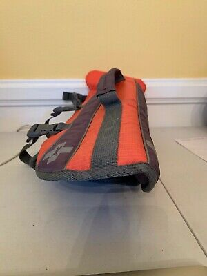 Dog Life Jacket Size Small Floatation Device Easy Strap Orange Gray  EUC  C56