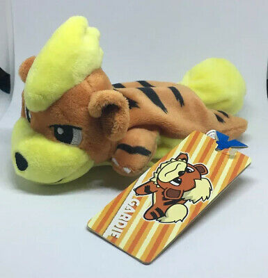 Pokemon Center Original Plush Doll Kuttari Growlithe Sleep Version New Japan