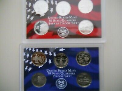 2000-S PROOF CLAD AND SILVER QUARTER SETS. NO BOXES OR COAs.  ####
