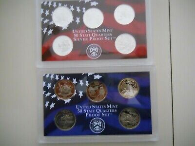 2002-S PROOF CLAD AND SILVER QUARTER SETS. NO BOXES OR COAs.  ####