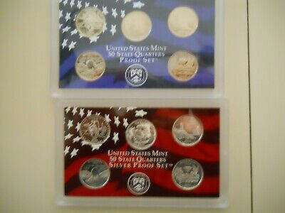 2003-S PROOF CLAD AND SILVER QUARTER SETS. NO BOXES OR COAs.  ####