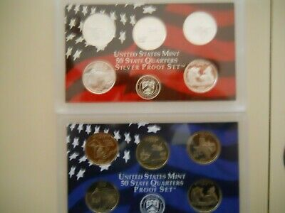 2004-S PROOF CLAD AND SILVER QUARTER SETS. NO BOXES OR COAs.  ####