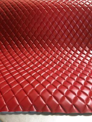 Vinyl Leather Faux smooth PVC RED Quilted auto headliner headboard fabric yard