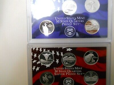 2007-S PROOF CLAD AND SILVER QUARTER SETS. NO BOXES OR COAs..   ####