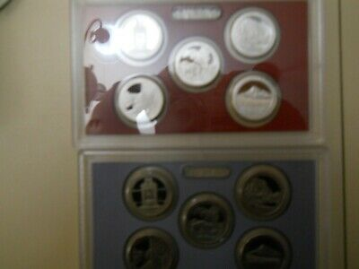2010-S PROOF CLAD AND SILVER QUARTER SETS. NO BOXES OR COAs. ####