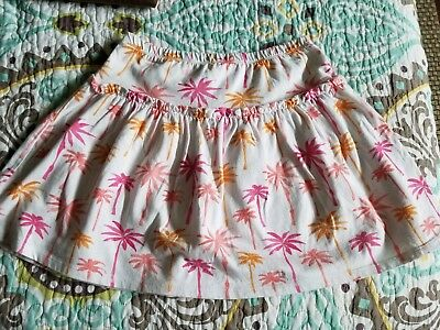 Girls Gymboree Skort with Palm Trees Size Youth 10 🌴 Tropical Pattern EUC
