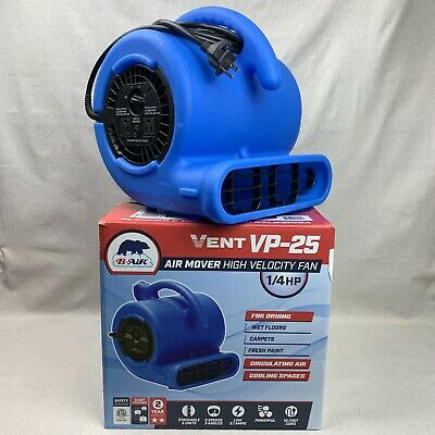 B-Air 1/4 HP Air Mover Blower Fan for Water Damage Restoration Carpet Dryer 864