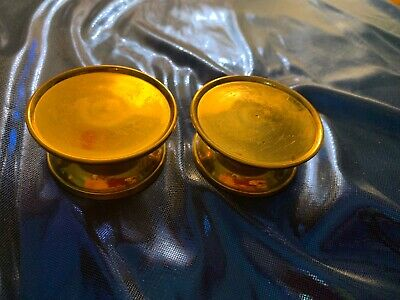 Set Of Two Small Brass Pedestals
