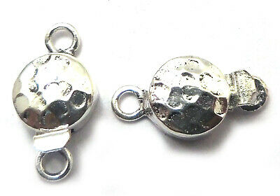 2 Pieces 20X10Mm Bali Box 1 Strand Clasp Oxidized Sterling Silver Plated 775