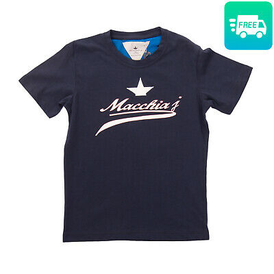 MACCHIA J T-Shirt Top Size 5Y Coated & Patched Front Short Sleeve Crew Neck
