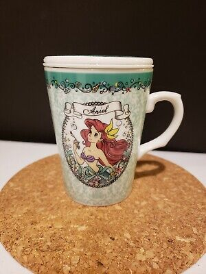 Tokyo Disneyland Ariel LITTLE MERMAID Mug Cup with TEA.. ONLY from Japan NEW