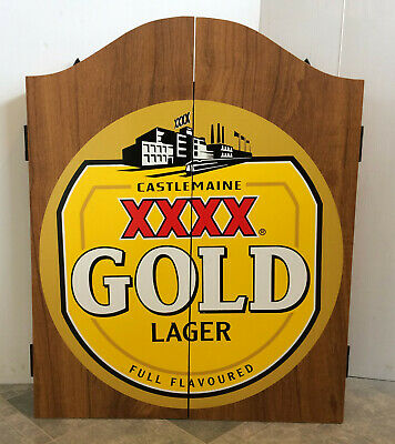 Extremely Rare XXXX Gold Dart Board Cabinet & Board