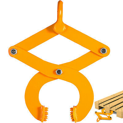 3T/6614Lbs Pallet Puller Clamp Single Scissor Sturdy Material Handling Warehouse