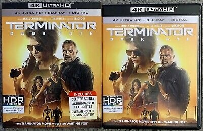 Terminator Dark Fate 4K Ultra Hd Blu Ray 2 Disc Set + Slipcover Sleeve Buy Itnow