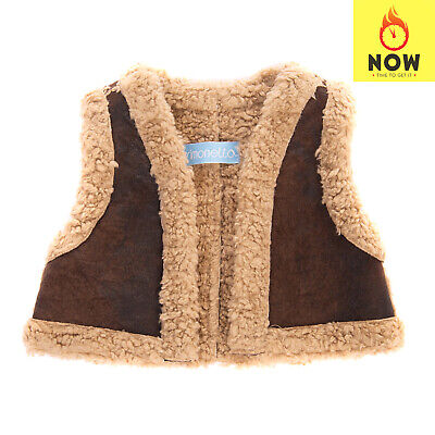 RRP €175 SIMONETTA Gilet Size 3Y / 100CM Suede Effect Sherpa Made in Italy