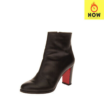 RRP€870 CHRISTIAN LOUBOUTIN Leather Ankle Boots EU37.5 UK4.5 US7.5 Made in Italy