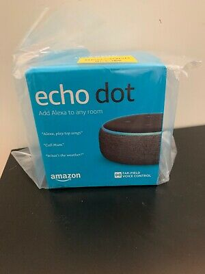 Amazon Echo Dot (3rd Generation) Smart Speaker with Alexa - Charcoal