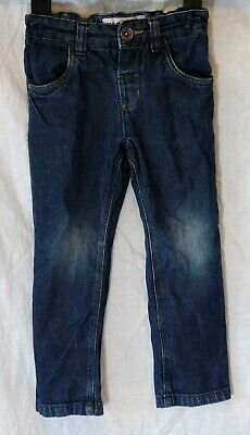 Boys Next Dark Blue Denim Straight Leg Faded Knee Classic Jeans Age 2-3 Years