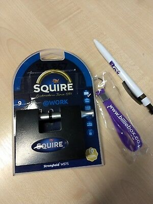Squire Padlock with 3 numbered keys for shipping containers