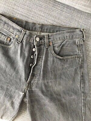 Women's S/M Vintage Levi's 501s Washed Out Grey Mom Jean 32/34