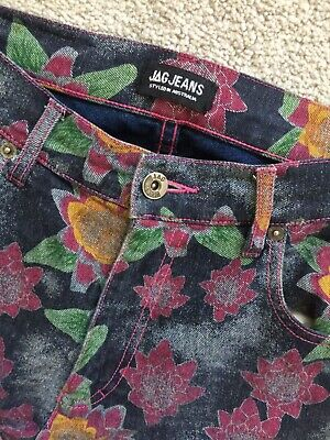 Women's Vintage JAG Floral High Waisted Mom Jean S/M