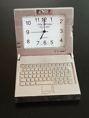 Silver Metal Chair, Quartz Novelty Collectors Clock By W.m Widdop