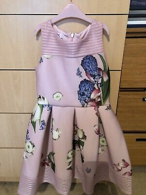 Ted Baker Girls Floral Dress - Pink 8 Years