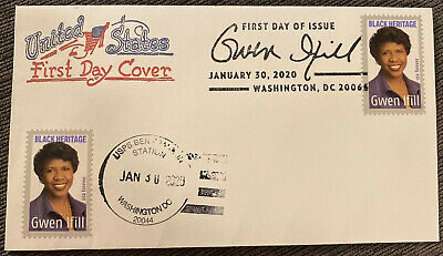2020 Gwen Ifill NEW Stamp First Day Issue Artopages FDC Dual DC Ben Franklin Sta
