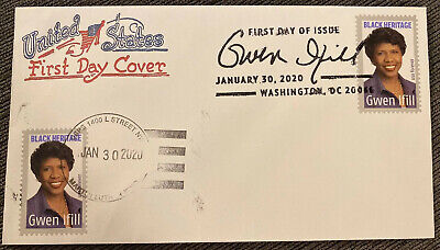 2020 Gwen Ifill NEW Stamp First Day Issue Artopages FDC Dual DC MLK Station