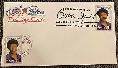 2020 Gwen Ifill NEW Stamp First Day Issue Artopages FDC Dual DC National Capital