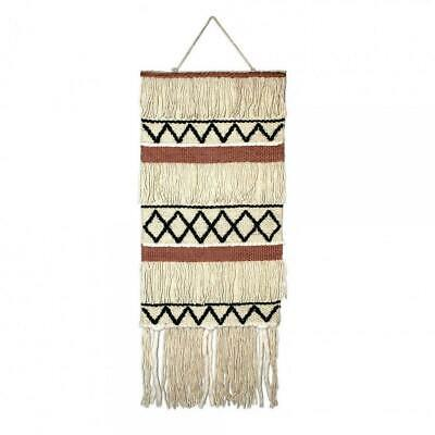 HF Living Hand Made With Love Retro Chic Wall Hanging Jute Beige  40 x 100