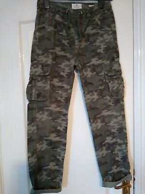 Fat Face Combat Cargo Camouflage Trousers Age 12-13