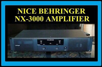 A Very Nice Behringer NX-3000 Power Amplifier. 3000W Bridged @ 4 Ohm