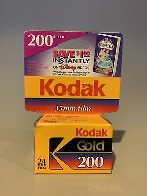 1-Roll Kodak Gold 35mm 200 Speed Color Film - 24 exposures Disney Promotion Card
