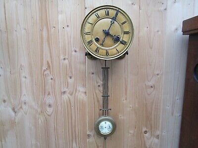 ANTIQUE Kienzle Striking Wall Clock Movement+Dial+PENDULUM+BRACKET