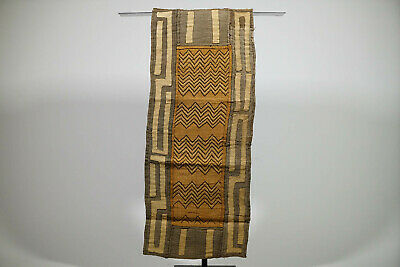 "Embroidered Hand Woven African Kuba Cloth Textile 76"" x 17"""