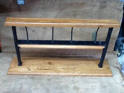 """Vintage 18"""" Cast Iron Grocery Store Butcher Paper Cutter Holder"""