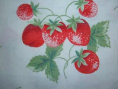 Vintage Towel Red Strawberries