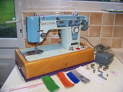 Heavy Japanese Brother  Z/Zag Semi Industrial Sewing Machine, Case, Serviced