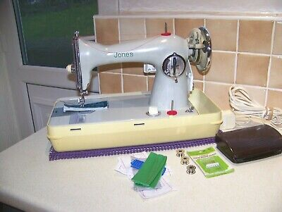 Jones Brother S/S Semi Industrial Sewing Machine,Shiney Chrome,Expertly Serviced