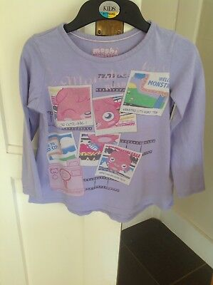 Girls Marks And Spencer  Moshi Monsters Pyjamas Top Age 7-8 Purple Mix