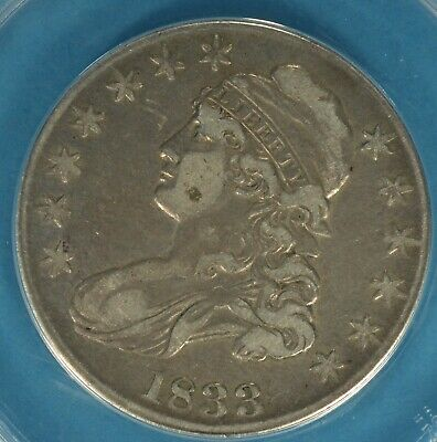 1833 Capped Bust Half Dollar ANACS VF30- Nice Looking Example
