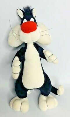 "Vintage 1994 Warner Bros Looney Tunes Sylvester Cat Plush Toy 11"" Tyco"
