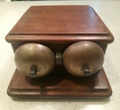 Vintage GPO Striking Brass Alarm Door Bell, Servant, Fire, Sound Alarm; Untested